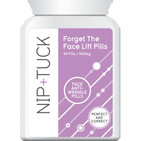 NIP & TUCK FORGET THE FACELIFT PILLS FACE ANTI WRINKLE PILLS